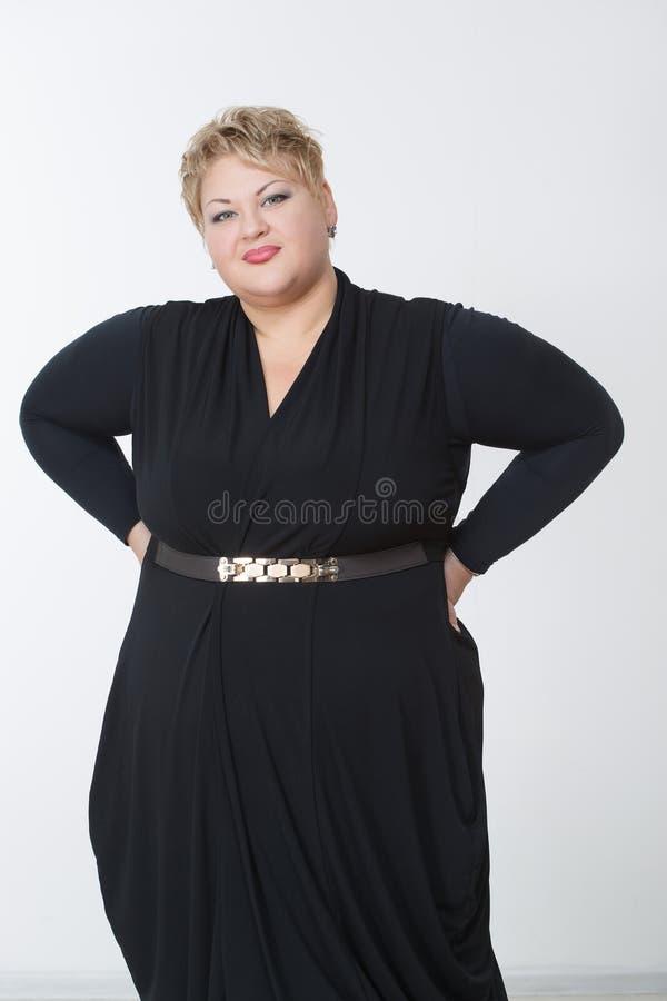 Donna Grassa In Un Bello Vestito Immagine Stock Immagine
