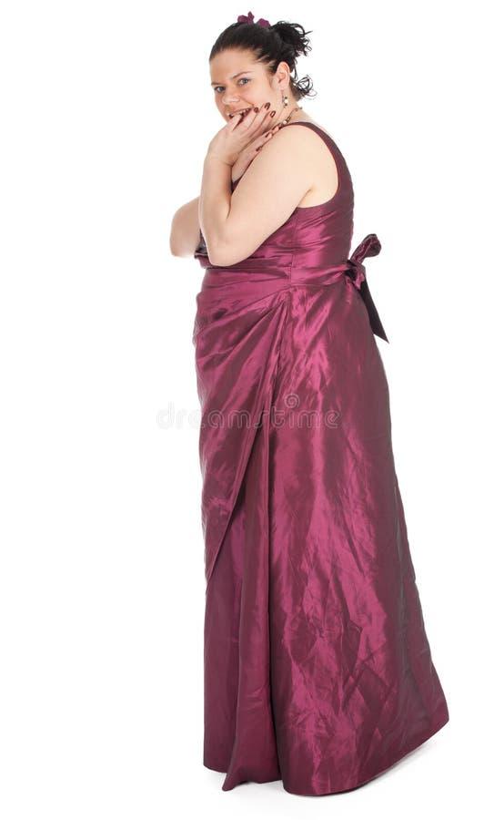 Donna Grassa In Vestito Da Sfera Fotografia Stock Immagine