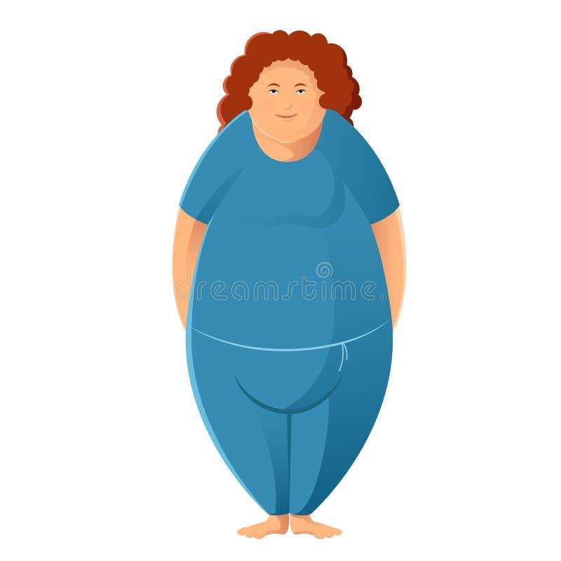 Donna grassoccia illustrazione di stock