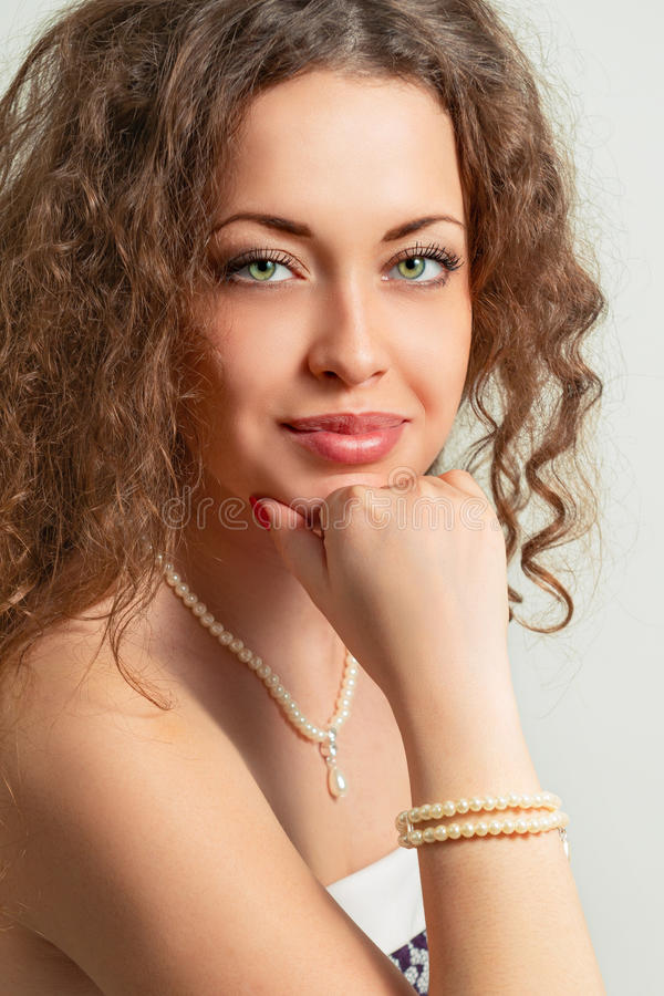 Donna graziosa fotografie stock libere da diritti