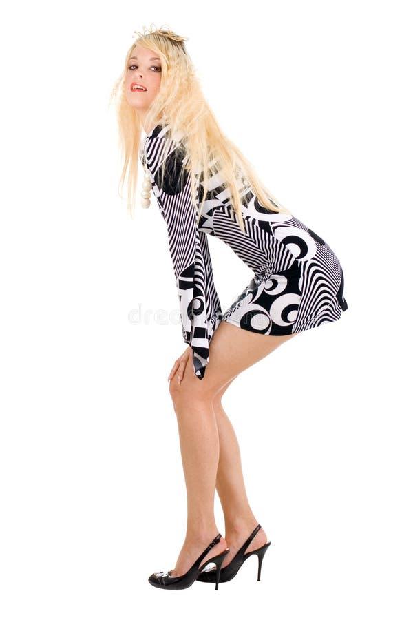 Donna graziosa con la parte posteriore volouptuous immagine stock libera da diritti