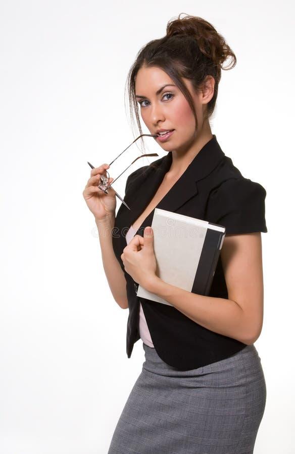 Donna graziosa di affari del Brunette fotografie stock libere da diritti