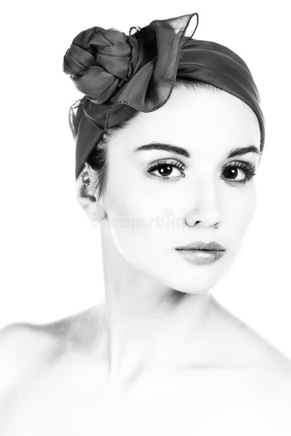 Donna graziosa. Fotographia di B&W. immagine stock