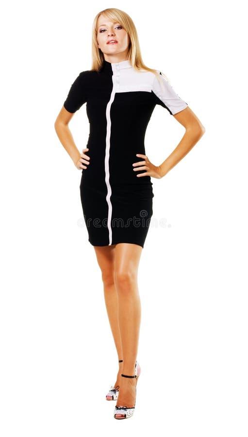 Donna graziosa in vestiti eleganti immagini stock libere da diritti