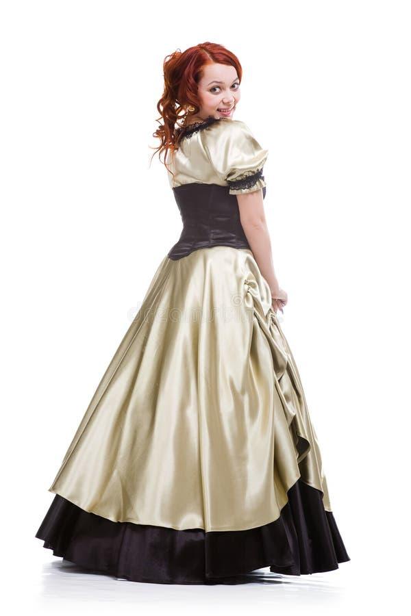 Donna graziosa in vestito da sfera immagine stock libera da diritti