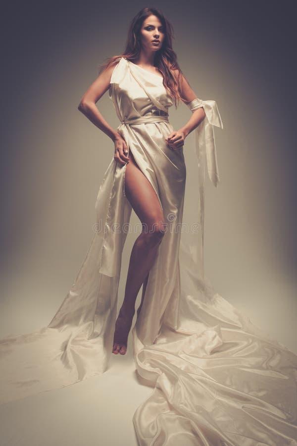 Donna greca di stile fotografie stock