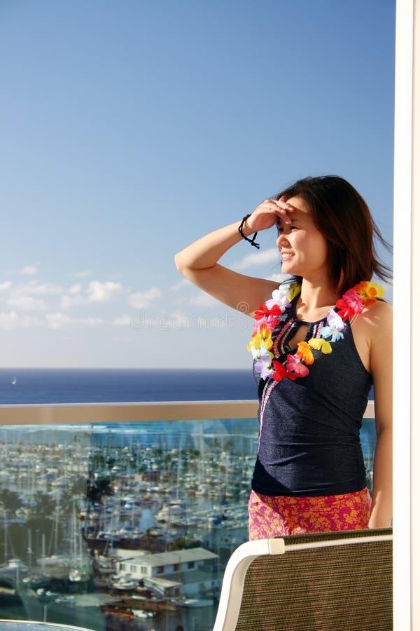 Donna in Hawai immagine stock