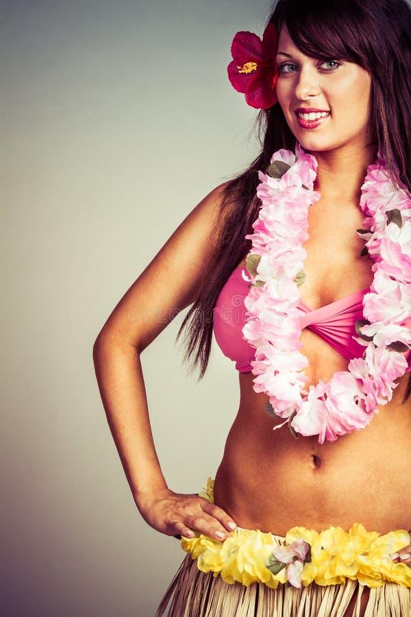 Donna hawaiana di hula fotografia stock libera da diritti