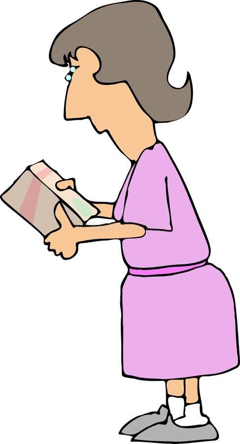 Donna II. d'acquisto. illustrazione vettoriale