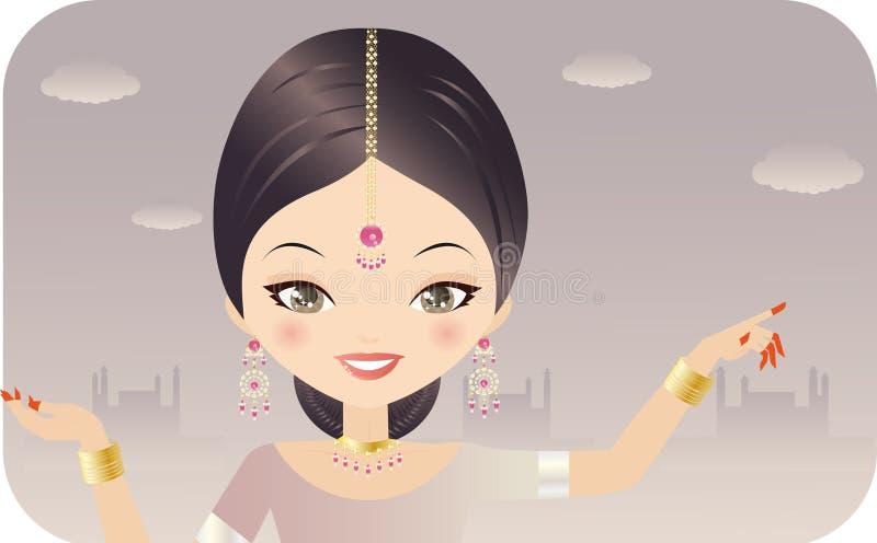 Donna indiana royalty illustrazione gratis