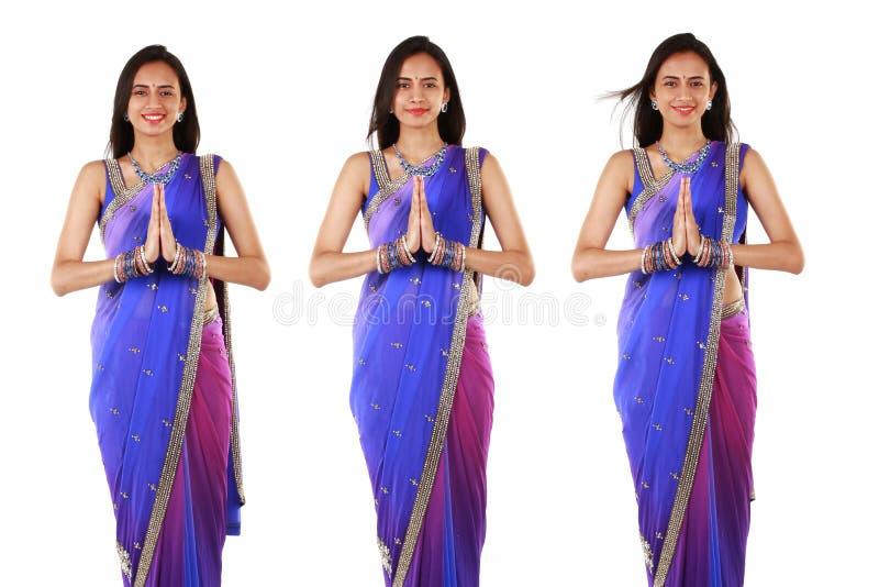 Donna indiana in abbigliamento tradizionale. immagine stock libera da diritti