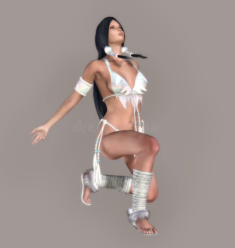 Donna indiana sexy illustrazione vettoriale