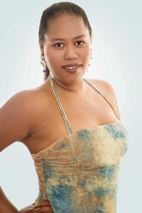 Donna Indigena Fotografia Stock