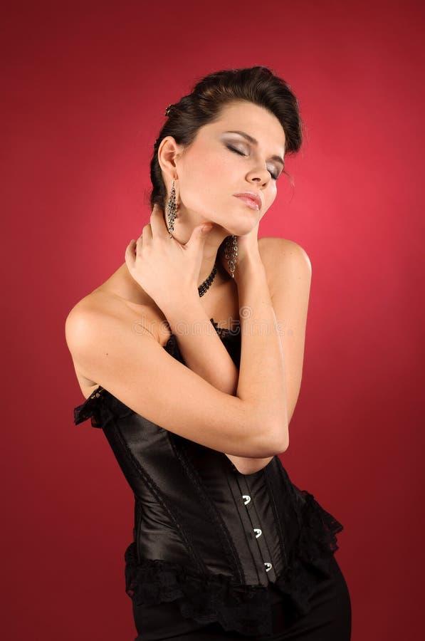 Donna interna. Estratto. fotografie stock