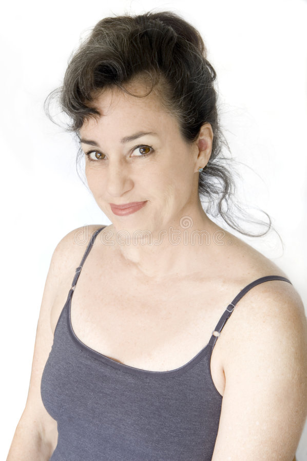 Donna invecchiata centrale immagine stock