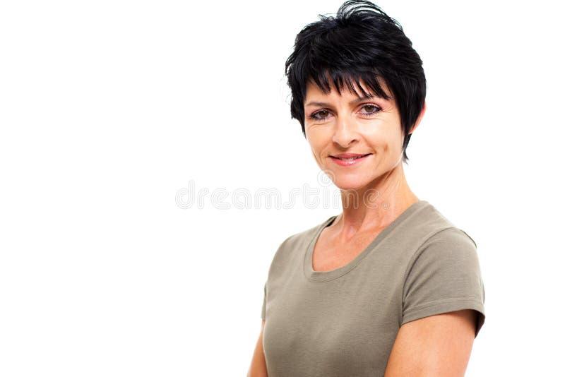 Donna invecchiata mezzo immagine stock libera da diritti