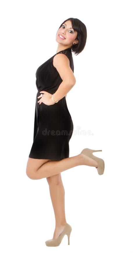 Donna ispana che mostra corpo fotografia stock
