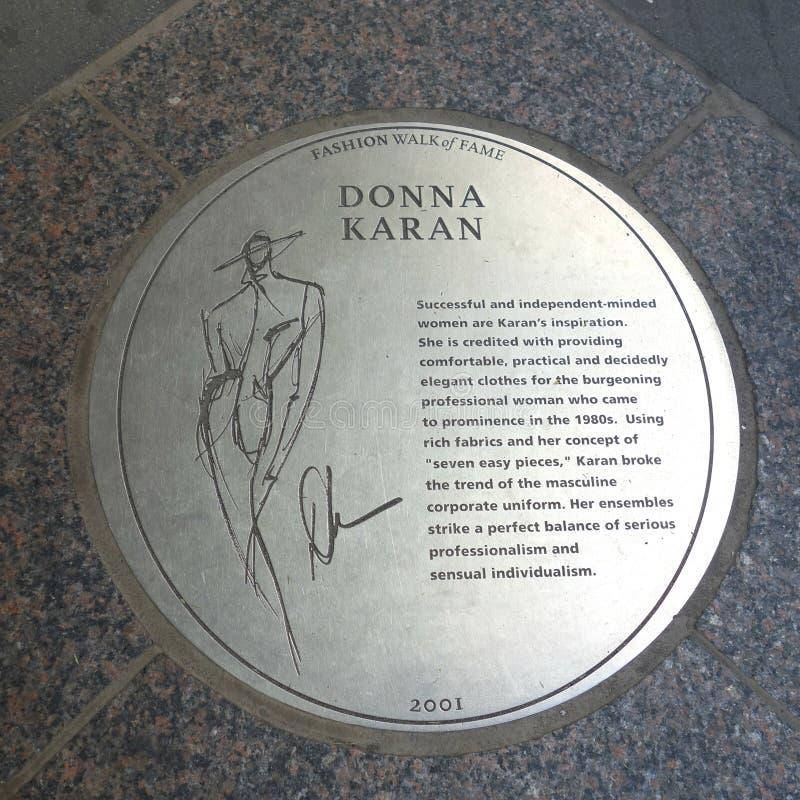 Donna Karan Plaque foto de stock
