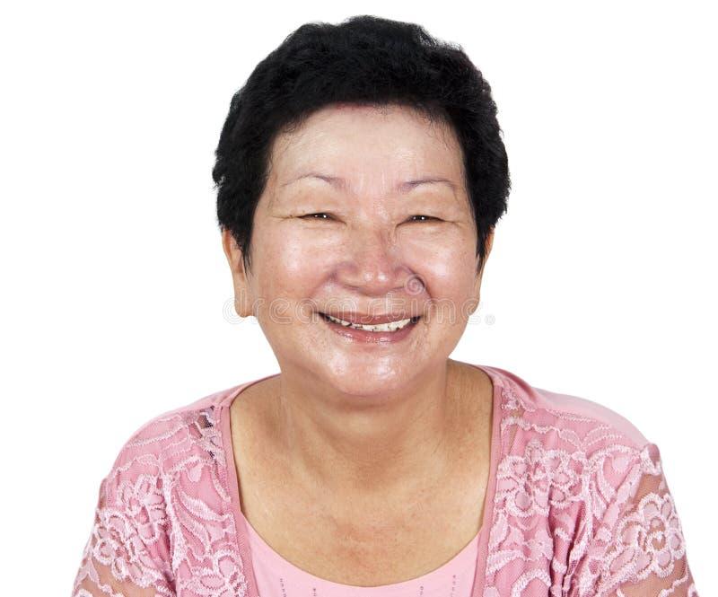 Donna maggiore felice fotografie stock