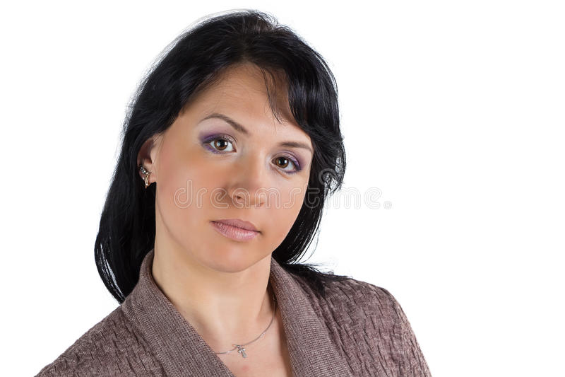 Donna in maglione fotografia stock libera da diritti
