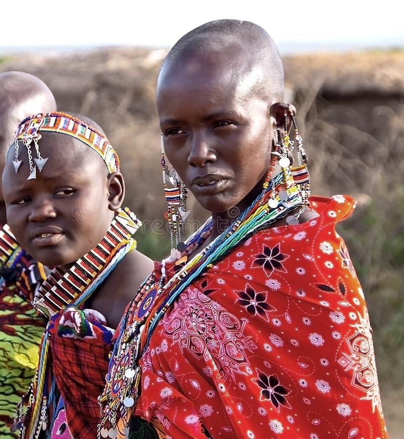 Donna masai immagini stock libere da diritti
