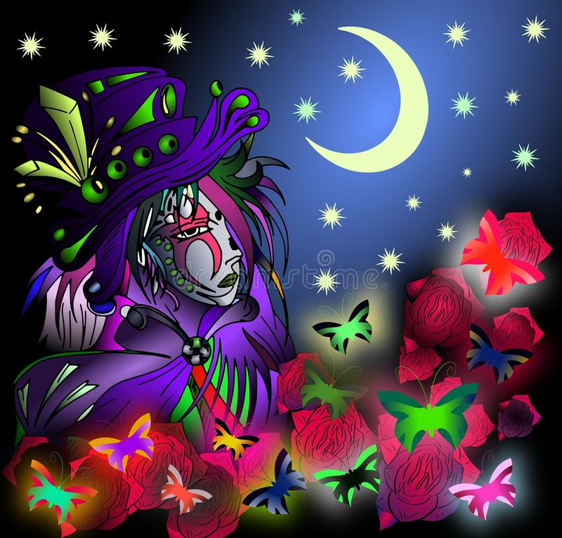 Donna mascherata royalty illustrazione gratis