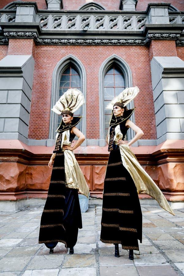 Donna mascherata carnevale fotografia stock