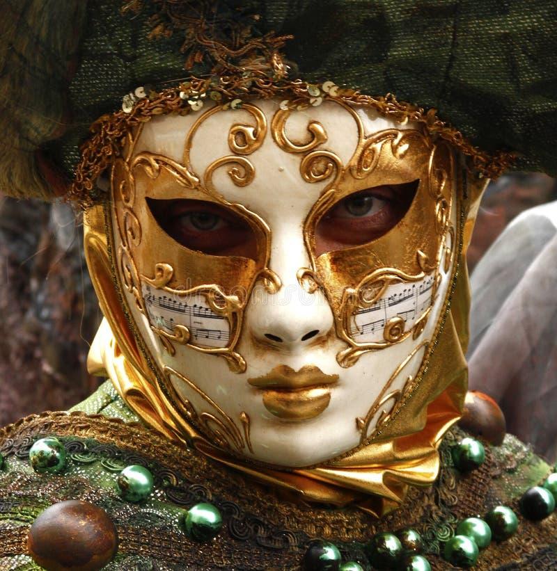 donna mascherata per il carnevale di Venezia fotografie stock libere da diritti