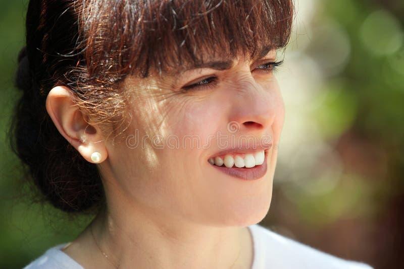 Donna matura felice immagine stock libera da diritti