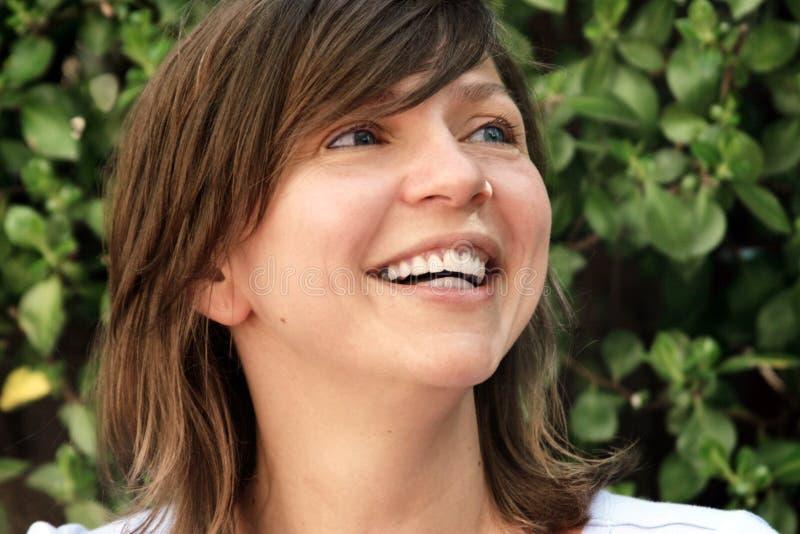 Donna matura felice fotografia stock libera da diritti