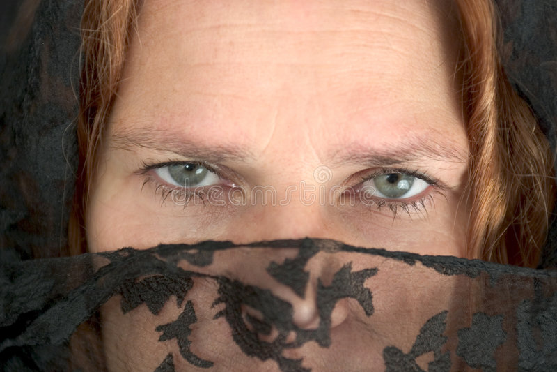Donna misteriosa (2) immagine stock libera da diritti