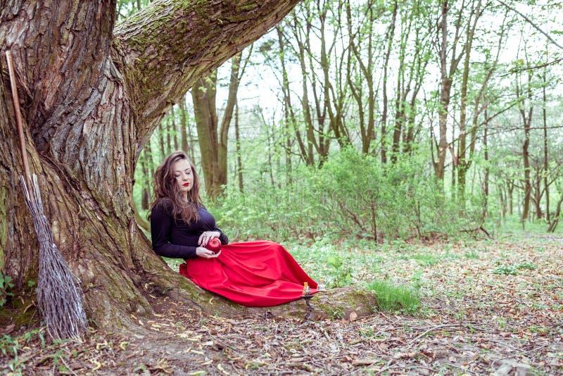 Donna mistica della strega fotografie stock libere da diritti