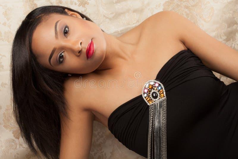 Donna multiracial splendida immagine stock libera da diritti