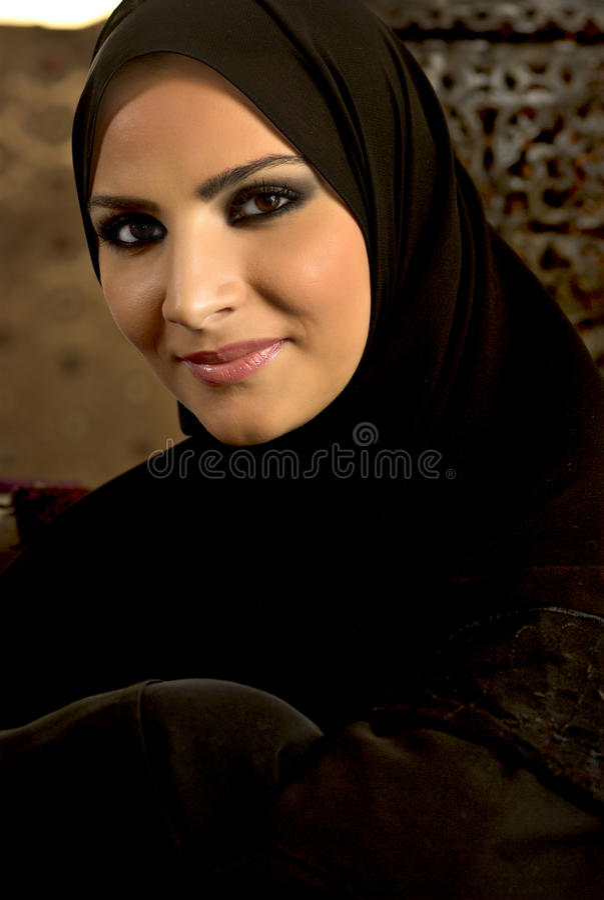 Donna musulmana fotografie stock libere da diritti