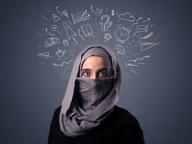 Donna musulmana che indossa Niqab immagini stock libere da diritti