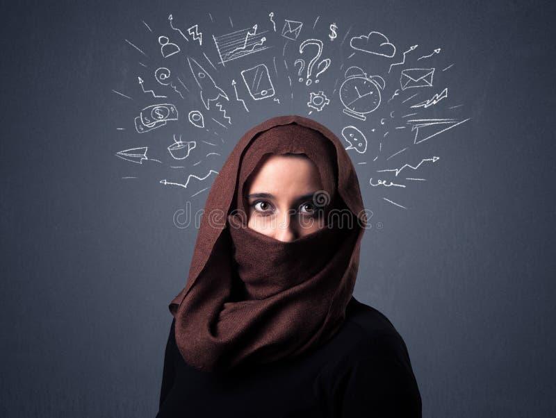 Donna musulmana che indossa Niqab fotografie stock