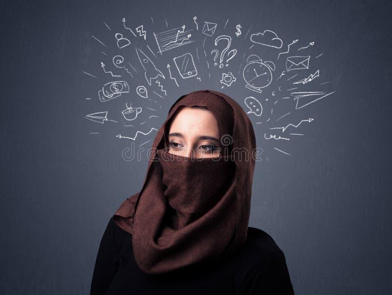 Donna musulmana che indossa Niqab fotografia stock libera da diritti