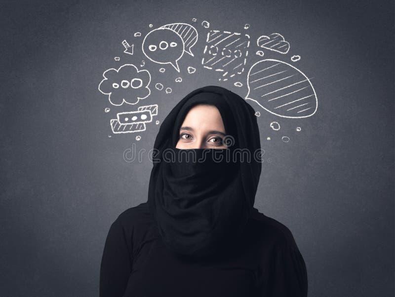 Donna musulmana che indossa Niqab fotografie stock libere da diritti