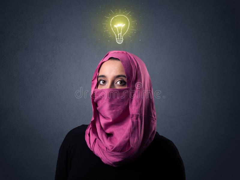 Donna musulmana che indossa Niqab immagini stock