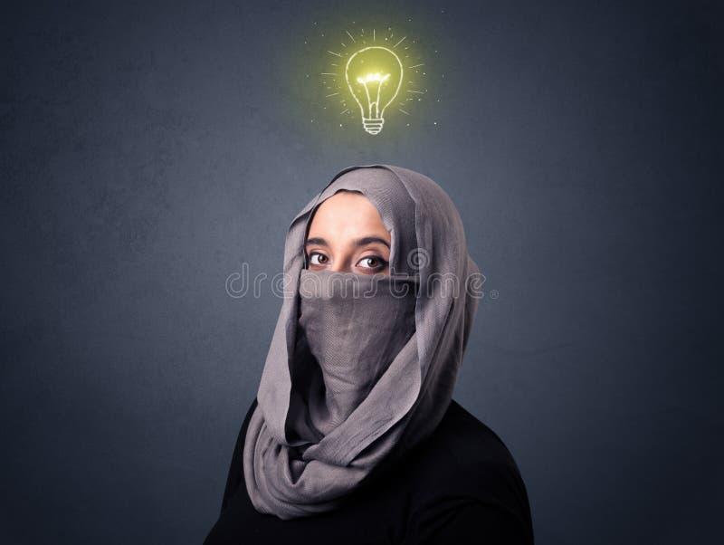 Donna musulmana che indossa Niqab fotografia stock