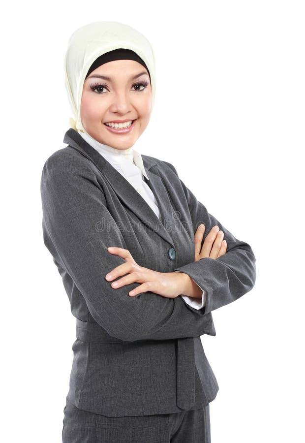 Donna musulmana di affari immagine stock libera da diritti