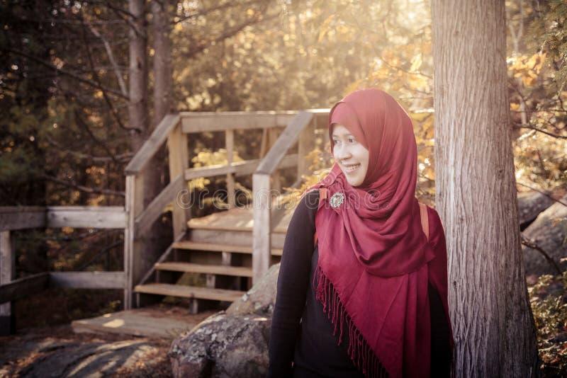 Donna musulmana incinta immagine stock libera da diritti