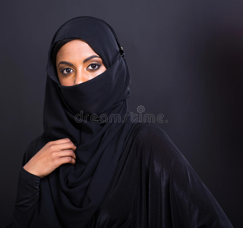 Donna musulmana misteriosa immagini stock