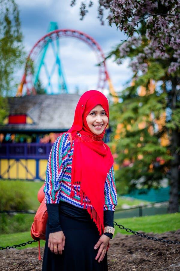 Donna musulmana nel Canada fotografie stock