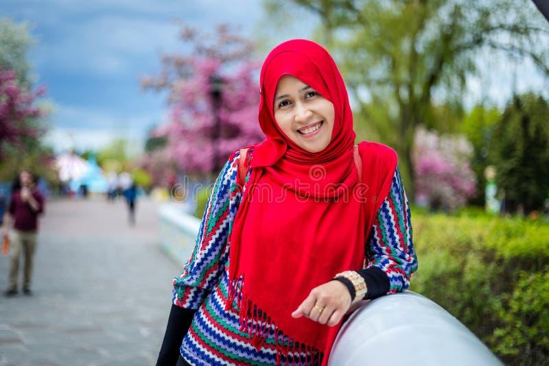 Donna musulmana nel Canada immagine stock libera da diritti