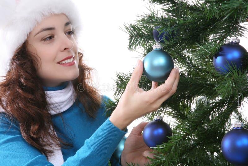 Download Donna a natale immagine stock. Immagine di festive, cozy - 3885141