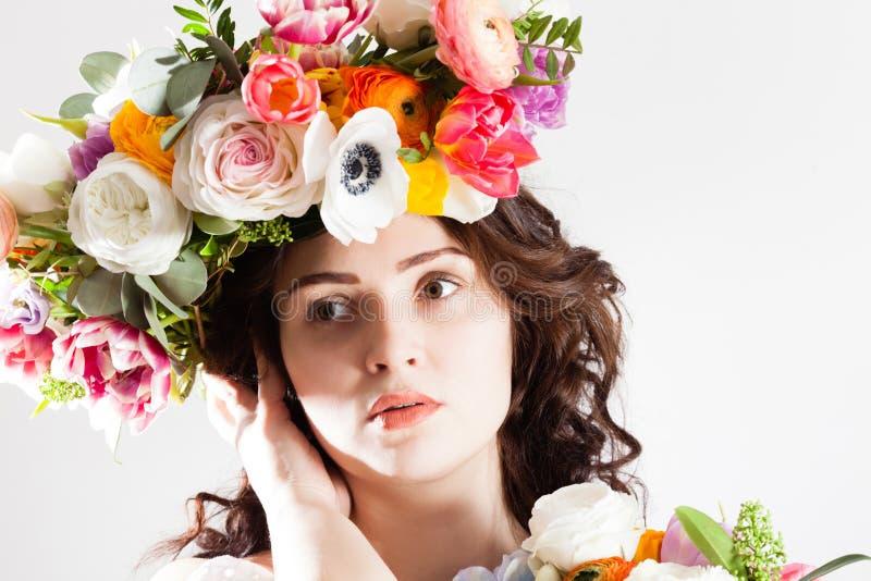 Donna naturale di arte creativa immagine stock libera da diritti