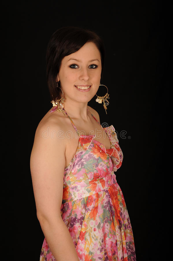 Donna nei sundress variopinti fotografie stock libere da diritti