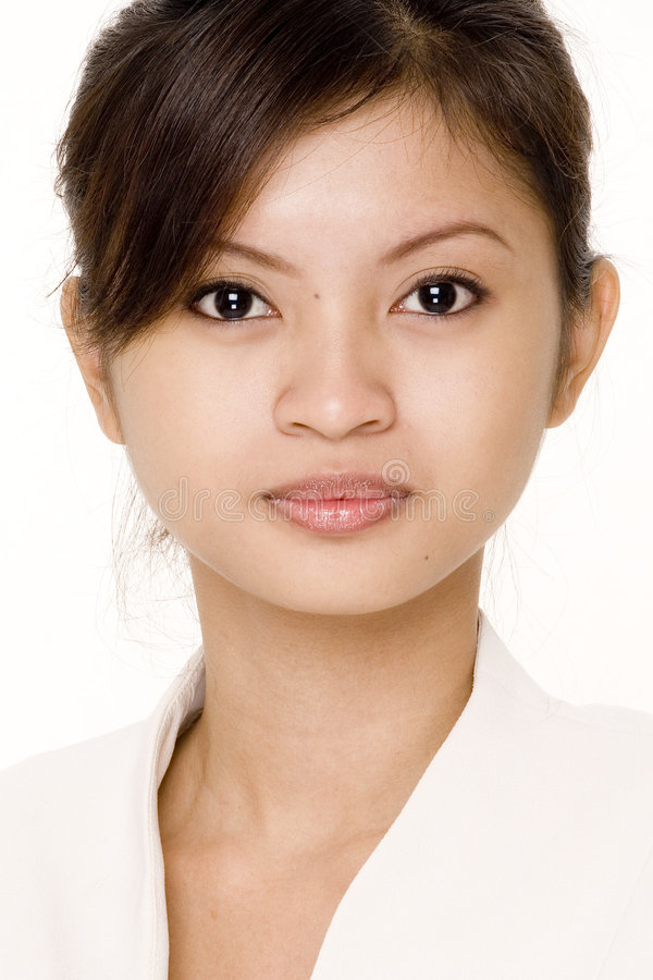 Donna nel bianco fotografie stock libere da diritti