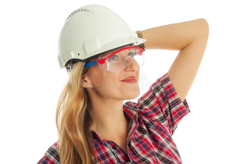 Donna nel corso del rinnovamento immagini stock